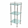 Allied Brass ET-14X143TGL-SN Three Tier Etagere with 14 Inch x 14 Inch Shelves, Satin Nickel