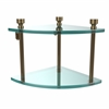 Allied Brass FT-3-BBR Foxtrot Collection Two Tier Corner Glass Shelf, Brushed Bronze