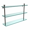 Allied Brass FT-5/22-ORB Foxtrot Collection 22 Inch Triple Tiered Glass Shelf, Oil Rubbed Bronze
