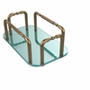 Allied Brass GT-1-BBR Vanity Top Guest Towel Holder, Brushed Bronze