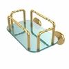 Allied Brass GT-2-1000-UNL Skyline Wall Mounted Guest Towel Holder, Unlacquered Brass