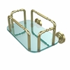 Allied Brass GT-2-DT-SBR Dottingham Wall Mounted Guest Towel Holder, Satin Brass