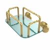 Allied Brass GT-2-MC-UNL Monte Carlo Wall Mounted Guest Towel Holder, Unlacquered Brass