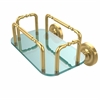 Allied Brass GT-2-PR-UNL Prestige Wall Mounted Guest Towel Holder, Unlacquered Brass