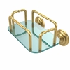 Allied Brass GT-2-QN-PB Que New Wall Mounted Guest Towel Holder, Polished Brass