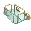 Allied Brass GT-2-QN-SBR Que New Wall Mounted Guest Towel Holder, Satin Brass