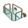 Allied Brass GT-2-WP-BBR Waverly Place Wall Mounted Guest Towel Holder, Brushed Bronze