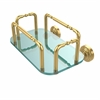 Allied Brass GT-2-WP-UNL Waverly Place Wall Mounted Guest Towel Holder, Unlacquered Brass
