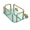 Allied Brass GT-2-WP-SBR Waverly Place Wall Mounted Guest Towel Holder, Satin Brass