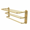 Allied Brass HTL-3-UNL Three Tier Hotel Style Towel Shelf with Drying Rack, Unlacquered Brass