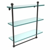Allied Brass MA-5/16TB-ORB Mambo Collection 16 Inch Triple Tiered Glass Shelf with Integrated Towel Bar, Oil Rubbed Bronze