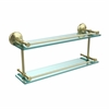 Allied Brass MC-2/22-GAL-SBR Monte Carlo 22 Inch Double Glass Shelf with Gallery Rail, Satin Bras