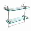 Allied Brass MC-2TB/16-GAL-PC Monte Carlo Collection 16 Inch Gallery Double Glass Shelf with Towel Bar, Polished Chrome