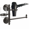 Allied Brass MC-GTBD-1-ORB Monte Carlo Collection Hair Dryer Holder and Organizer, Oil Rubbed Bronze