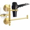 Allied Brass MC-GTBD-1-UNL Monte Carlo Collection Hair Dryer Holder and Organizer, Unlacquered Brass