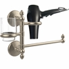 Allied Brass MC-GTBD-1-PEW Monte Carlo Collection Hair Dryer Holder and Organizer, Antique Pewter