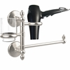 Allied Brass MC-GTBD-1-SN Monte Carlo Collection Hair Dryer Holder and Organizer, Satin Nickel