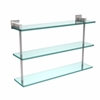 Allied Brass MT-5-22-PC Montero Collection 22 Inch Triple Tiered Glass Shelf, Polished Chrome