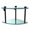 Allied Brass NS-3-BKM Two Tier Corner Glass Shelf, Matte Black