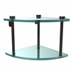 Allied Brass NS-3-ORB Two Tier Corner Glass Shelf, Oil Rubbed Bronze