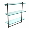 Allied Brass NS-5/16TB-ORB 16 Inch Triple Tiered Glass Shelf with Integrated Towel Bar, Oil Rubbed Bronze