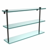 Allied Brass NS-5/22-ORB 22 Inch Triple Tiered Glass Shelf, Oil Rubbed Bronze