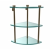 Allied Brass NS-6-BBR Three Tier Corner Glass Shelf, Brushed Bronze