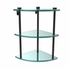 Allied Brass NS-6-ORB Three Tier Corner Glass Shelf, Oil Rubbed Bronze