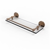 Allied Brass P1000-1/16-GAL-BBR 16 Inch Tempered Glass Shelf with Gallery Rail, Brushed Bronze