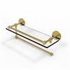 Allied Brass P1000-1PT/16-GAL-PB Prestige Skyline Collection Paper Towel Holder with 16 Inch Gallery Glass Shelf, Polished Brass