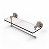 Allied Brass P1000-1PT/16-PEW Prestige Skyline Collection Paper Towel Holder with 16 Inch Glass Shelf, Antique Pewter