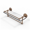 Allied Brass P1000-1TB/16-GAL-BBR 16 Inch Gallery Glass Shelf with Towel Bar, Brushed Bronze