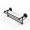 Allied Brass P1000-1TB/16-GAL-ORB 16 Inch Gallery Glass Shelf with Towel Bar, Oil Rubbed Bronze