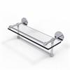 Allied Brass P1000-1TB/16-GAL-PC 16 Inch Gallery Glass Shelf with Towel Bar, Polished Chrome