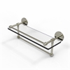 Allied Brass P1000-1TB/16-GAL-PNI 16 Inch Gallery Glass Shelf with Towel Bar, Polished Nickel