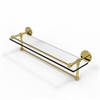 Allied Brass P1000-1TB/22-GAL-PB 22 Inch Gallery Glass Shelf with Towel Bar, Polished Brass