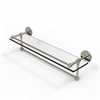 Allied Brass P1000-1TB/22-GAL-PNI 22 Inch Gallery Glass Shelf with Towel Bar, Polished Nickel