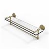 Allied Brass P1000-1TB/22-GAL-SBR 22 Inch Gallery Glass Shelf with Towel Bar, Satin Brass
