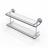 Allied Brass P1000-2/22-GAL-PC 22 Inch Tempered Double Glass Shelf with Gallery Rail, Polished Chrome