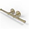 Allied Brass P1000-24-2-UNL Prestige Skyline Collection Double Roll Toilet Tissue Holder, Unlacquered Brass