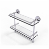 Allied Brass P1000-2TB/16-GAL-PC 16 Inch Gallery Double Glass Shelf with Towel Bar, Polished Chrome