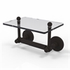 Allied Brass P1000-GLT-24-ORB Prestige Skyline Collection Two Post Toilet Tissue Holder with Glass Shelf, Oil Rubbed Bronze