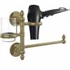 Allied Brass P1000-GTBD-1-ABR Prestige Skyline Collection Hair Dryer Holder and Organizer, Antique Brass
