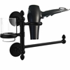 Allied Brass P1000-GTBD-1-BKM Prestige Skyline Collection Hair Dryer Holder and Organizer, Matte Black