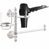 Allied Brass P1000-GTBD-1-PC Prestige Skyline Collection Hair Dryer Holder and Organizer, Polished Chrome