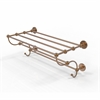 Allied Brass P1000-HTL/24-5-BBR Prestige Skyline Collection 24 Inch Train Rack Towel Shelf, Brushed Bronze