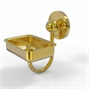 Allied Brass P1032-UNL Prestige Skyline Collection Wall Mounted Soap Dish, Unlacquered Brass