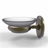 Allied Brass P1062-ABR Prestige Skyline Collection Wall Mounted Soap Dish, Antique Brass