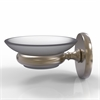 Allied Brass P1062-PEW Prestige Skyline Collection Wall Mounted Soap Dish, Antique Pewter