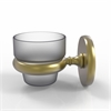 Allied Brass P1064-SBR Prestige Skyline Collection Wall Mounted Votive Candle Holder, Satin Brass